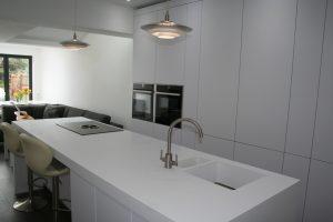 Corian Worktops for Kitchen Island Including ink in Leeds