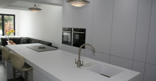 Corian Worktops for Kitchen Island Including ink in Leeds