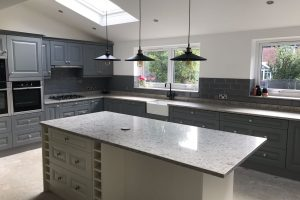 Kitchen with Luxury solid worktops