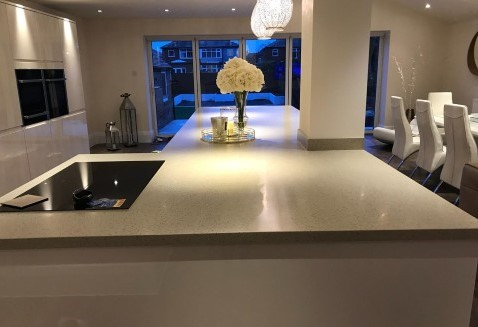 Extended Island in Blackpool Kitchen