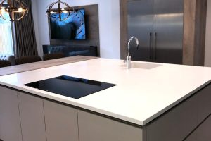 Corian Glacier White top with sink