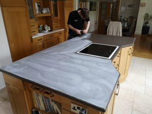 Polishing Corian Worktop