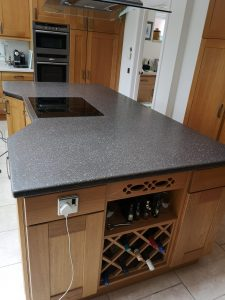 Polished Corian Worktop by Stone Design UK