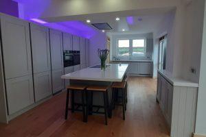 Corian colour Everest worktop in Kitchen