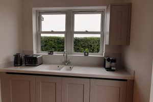 Corian colour Everest worktop with Sink