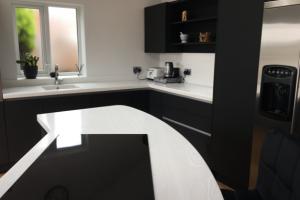 Corion Worktops in Modern Kitchen Island